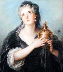 Adrienne Lecouvreur kao Cornelia u tragediji Smrt Pompejeva Pierrea Corneillea, sliku je 1720 naslikao Charles Antoine Coypel
