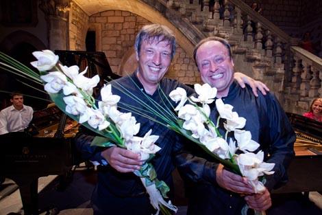 Boris Berezovsky & Alexander Ghindin, na kraju koncerta
