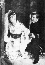 Rosina Storchio (Cio-Cio San (Madama Butterfly)) i Giovanni Zenatello (B. F. Pinkerton) na praizvedbi opere Madama Butterfly u Scali 1904.