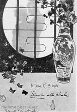 Madame Butterfly, razglednica s praizvedbe