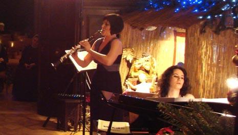 Koncertna promocija CD-a Glazba… prijateljstvo klarinetistice Marije Pavlović i pijanistice Martine Filjak, Marijin dvor, Lužnica, 27. prosinca 2010., foto: Berislava Miriam Grabovac