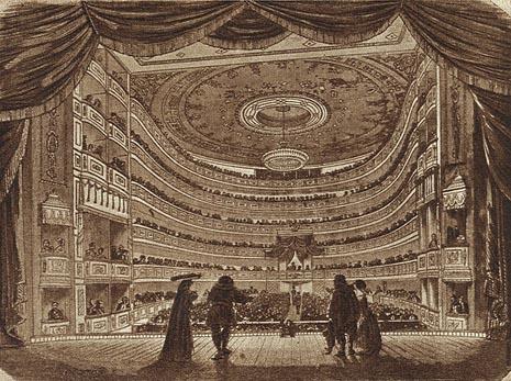 Carsko kazalište u Petrogradu u kojemu je 10./22. studenoga 1862. praizvedena Moć sudbine