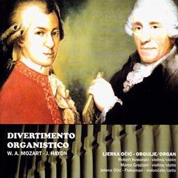 Divertimento organistico, Ljerka Očić, orgulje, Robert Kowalski, violina, Marco Graziani, violina, Jelena Očić-Flaksman, violončelo, Croatia Records, 2009.