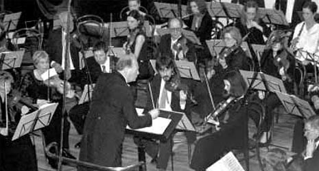 Društveni orkestar Hrvatskog glazbenog zavoda, dirigent Igor Gjadrov, arhivska fotografija iz 2002.