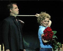 Međunarodni operni festival, Miskolc: Béla Bartók, Dvorac Modrobradog, redatelji Michael Schulz, Dirk Schattner; András Palerdi (Modrobradi), Andrea Meláth (Judith), foto: János Vajda