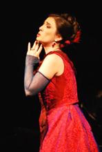 Ermonela Jaho kao Violetta Valery, Hrvatsko narodno kazalište u Zagrebu, Giuseppe Verdi, La Traviata, red. Dora Ruždjak Podolski, foto: Saša Novković