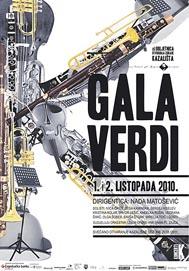 Plakat koncerta Gala Verdi, dir. Nada Matošević, HNK Ivana pl. Zajca Rijeka, 1. i 2. listopada 2010.