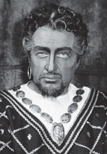 Josip Gostič kao Otello; Giuseppe Verdi, Otello, HNK u Zagrebu, 1950.