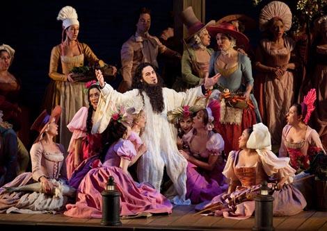 The Metropolitan Opera, New York: Gioachino Rossini, Grof Ory, dir. Maurizio Benini, red. Bartlett Sher, foto: Marty Sohl / Metropolitan Opera