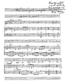 Autograf pjesme Kad mlidijah umrijeti s Hatzeovom posvetom voljenoj Gildi, 1897.