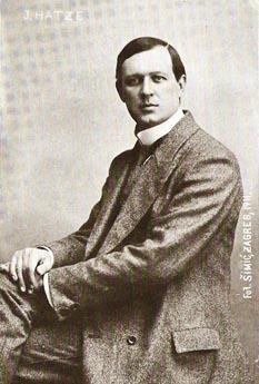 Josip Hatze u vrijeme nastanka opere Povratak 1911.