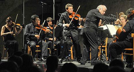 Julian Rachlin, Academy of St. Martin in the Fields i dirigent Leonard Slatkin na orvaranju Festivala Julian Rachlin i prijatelji, foto: Željko Tutnjević, www.rachlinandfriends.com