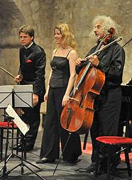 voilinist Julian Rachlin, pijanistica Polina Leschenko  i violončelist Mischa Maisky, foto: Željko Tutnjević, www.rachlinandfriends.com