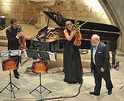 Julian Rachlin, viola, Janine Jansen, violina i Krzysztof Penderecki, foto: Željko Tutnjević, www.rachlinandfriends.com