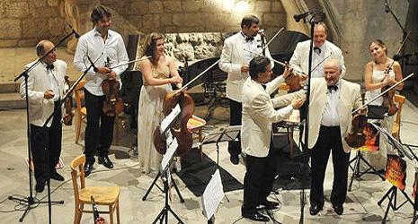 Koncert u bijelom, violina i Krzysztof Penderecki, foto: Željko Tutnjević, www.rachlinandfriends.com