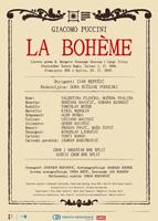La Boheme, plakat predstave