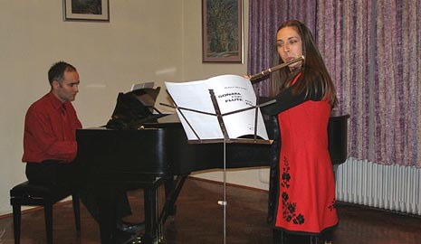 flautistica Lidija Ljubičić i pijanist Ivan Batoš, foto: arhivska fotografija, www.zapresic.hr