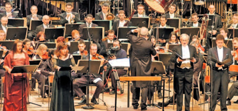 Claudia Barainsky (sopran), Kora Pavelić (mezzosopran), Robin Leggate (tenor), Ralf Lukas (bas), Simfonijski orkestar HRT-a pod ravnanjem Nikše Bareze