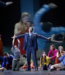 Wilfried Zelinka i ansambl predstave; Opera u Grazu, Darrel Toulon / Georg Friedrich Händel, Messiah, dir. Marius Burkert, red. Darrel Toulon, foto: Werner Kmetitsch