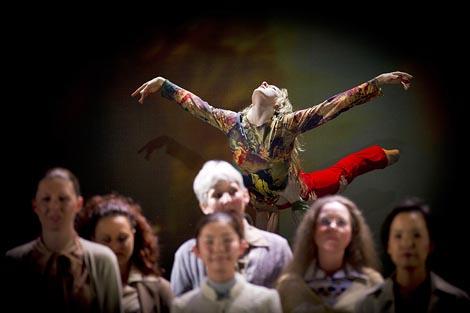 Daphne van Dooren i Zbor; Opera u Grazu, Darrel Toulon / Georg Friedrich Händel, Messiah, dir. Marius Burkert, red. Darrel Toulon, foto: Werner Kmetitsch