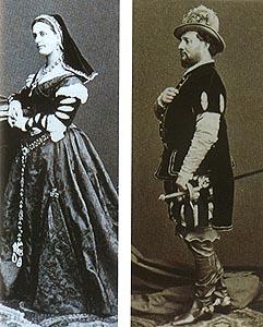 Caroline Douvry-Barbot kao Leonora i Enrico Tamberlin(c)k kao Alvaro na praizvedbi opere 1862.