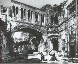 Scenografsko rješenje za prvu izvedbu opere u Scali 27. veljače 1869.