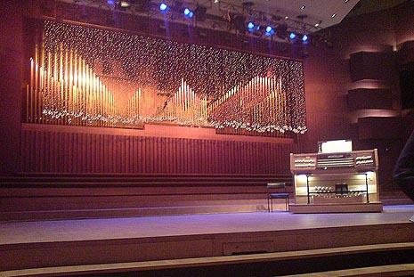 Orgulje KD Vatroslav Lisinski na koncertu 21. prosinca 2010.