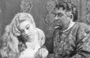 Vesna Milatić (Desdemona) i Ilija Žižak (Otello), Split, 1957.