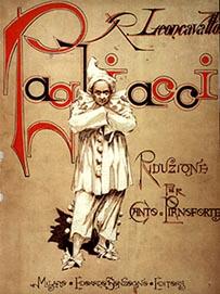 Naslovnica prvog notnog izdanja opere Pagliacci