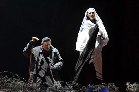 Manfred Hemm, Dubravka Šeparović Mušović; Hrvatsko narodno kazalište u Zagrebu: Richard Wagner, Parsifal, dir. Nikša Bareza, red. Kurt Josef Schildknecht, foto: © Novković