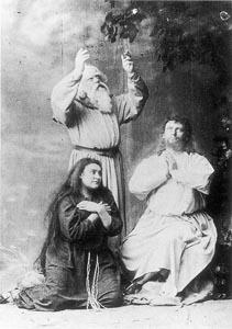 Amalie Materna (Kundry), Emil Scaria (Gurnemanz) i Hermann Winkelmann (Parsifal) na praizvedbi 1882.