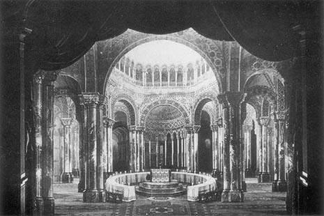 Scenografija Paula von Joukowskog za I. i III. čin na praizvedbi 1882.