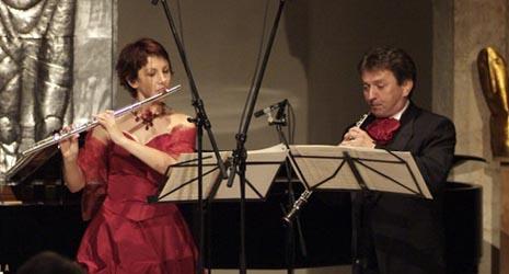 Renata Penezić, flauta, i Branko Mihanović, oboa; arhivska fotografija, foto: Damil Kalogjera, www.dubrovnik-festival.hr