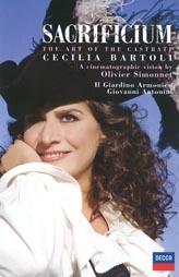 Naslovnica DVD izdanja Sacrificium Cecilije Bartoli