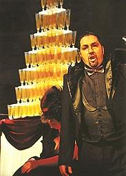 Ljubomir Puškarić (Dr. Falke), Hrvatsko narodno kazalište u Zagrebu: Johann Strauss ml., Šišmiš, red. Krešimir Dolenčić, dir. Michael Helmrath