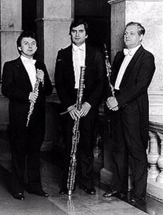 Zagrebački puhački trio, Branko Mihanović, Zvonimir Stanislav i Anđelko Ramušćak